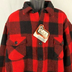 Vintage 80s Woolrich Wool Heavy Shirt Jacket 3XL